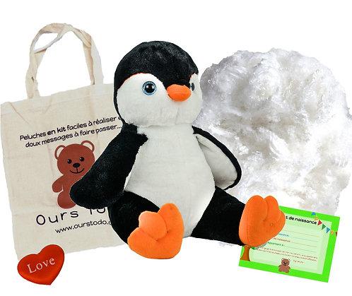 Pingouin - peluche à créer de 40 cm