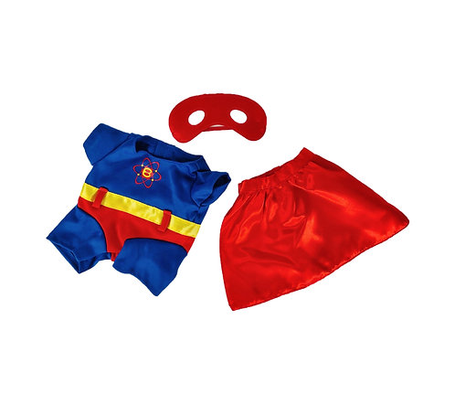 Costume de Superbear - vêtement pour peluche de 20 cm