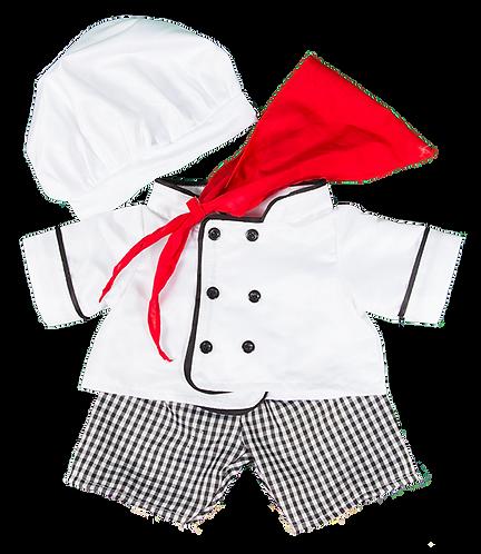 Tenue de chef cuisinier - vêtement pour peluche de 40 cm