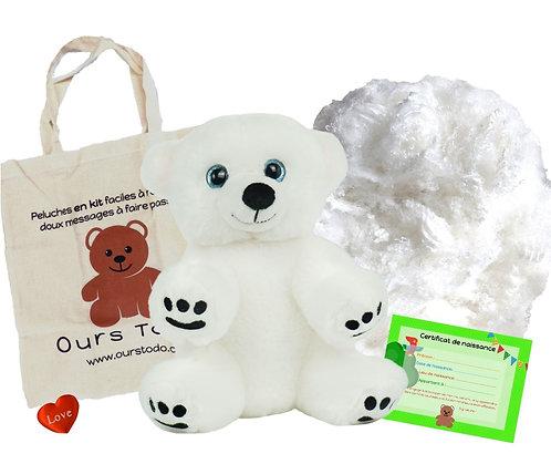 Ours polaire - peluche à créer de 20 cm