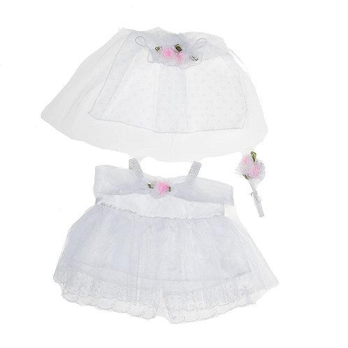 Robe de mariée - vêtements pour peluche de 40 cm