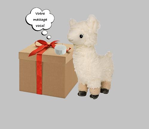 Peluche avec son enregistrable - Lama de 20 cm