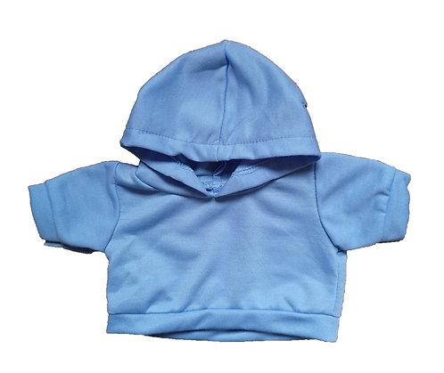 Sweat bleu à capuche - vêtement pour peluche de 40 cm
