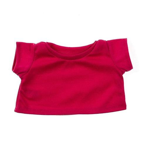 T-shirt fuchsia - vêtements pour peluche de 20 cm