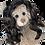 Thumbnail: Perruque brune cheveux longs - pour peluches de 40 cm