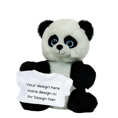Peluche avec T-shirt personnalisé - Panda en peluche de 20 cm