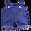 Thumbnail: Salopette en jean et boutons roses - vêtements pour peluche de 20 cm