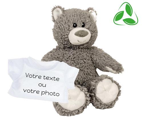 Peluche écologique avec T-shirt personnalisé - Ours en peluche de 40 cm