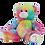 Thumbnail: Peluche avec T-shirt personnalisé - Nounours arc-en-ciel en peluche de 40 cm