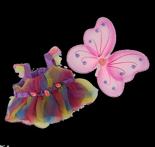 Costume de fée papillon - vêtement pour peluche de 40 cm