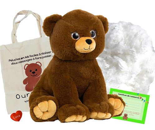 L'ours tendresse - peluche à créer de 40 cm