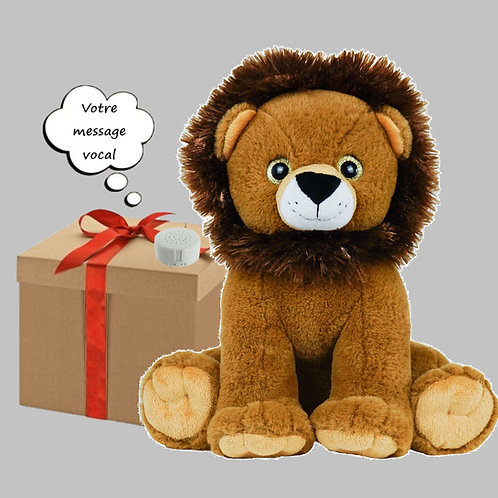 Peluche avec son enregistrable - Lion en peluche de 40 cm