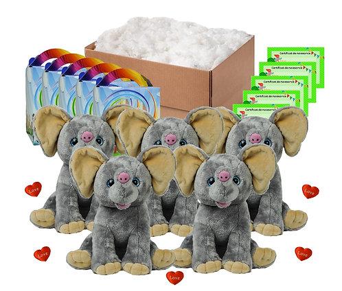 Pack anniversaire éléphants de 40 cm