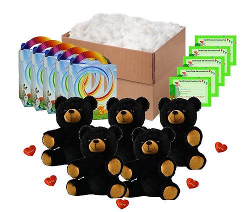 Pack anniversaire ours bruns de 20 cm