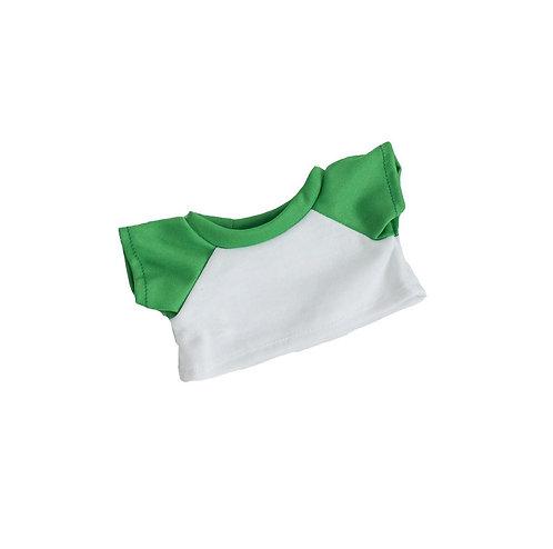 T-shirt blanc et vert - vêtements pour peluche de 20 cm