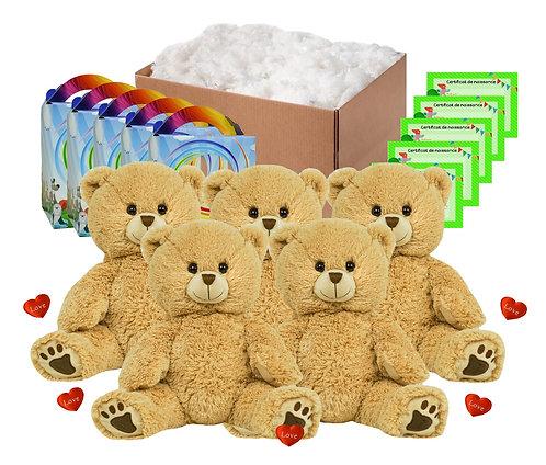 Pack anniversaire ours à poils longs de 40 cm