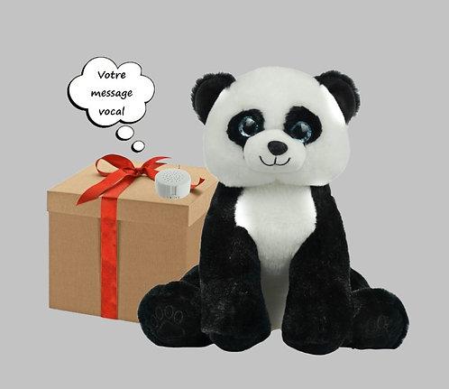 Peluche avec son - Panda - 40 cm