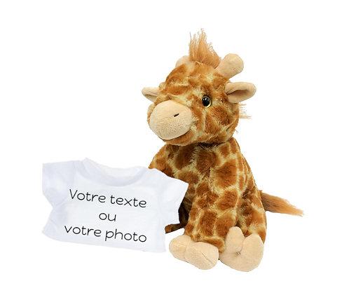 Peluche avec T-shirt personnalisé -  Girafe en peluche de 20 cm