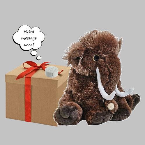 Peluche avec son enregistrable - Mammouth en peluche de 20 cm