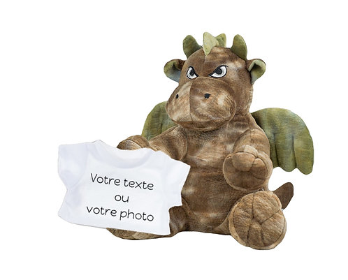 Peluche avec T-shirt personnalisé - Dragon en peluche de 40 cm