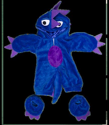 Costume de monstre bleu et violet - vêtement pour peluche de 20 cm