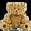 Thumbnail: Pack anniversaire ours bouclés beiges de 40 cm