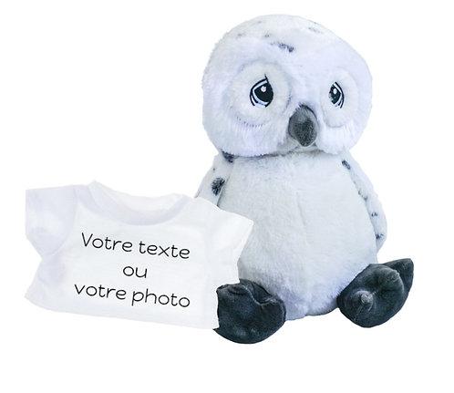 Peluche avec T-shirt personnalisé - Chouette en peluche de 40 cm
