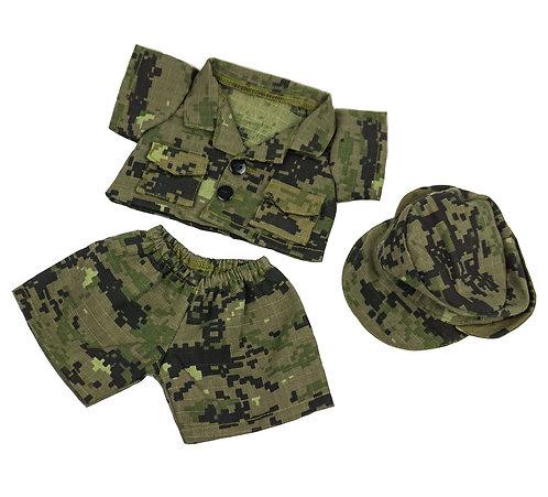 Tenue de militaire - vêtement pour peluche de 20 cm