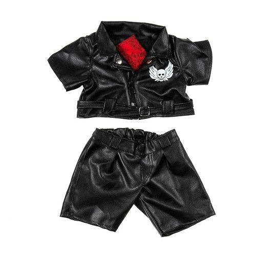 Tenue de motard Easy Rider - vêtements pour peluche de 40 cm