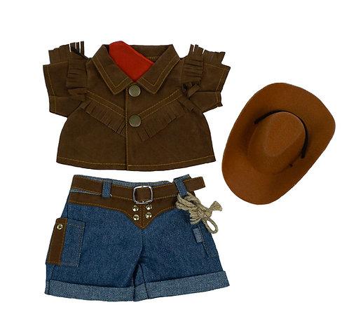Tenue de cowboy - vêtements pour peluche de 20 cm