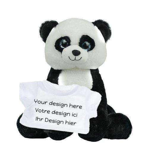 Peluche avec T-shirt personnalisé - Panda en peluche de 40 cm