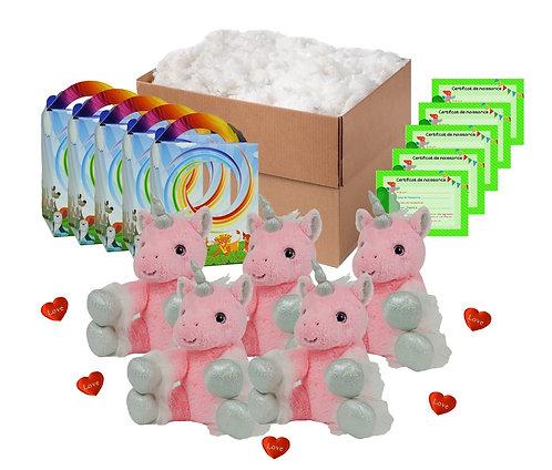 Pack anniversaire licornes roses de 20 cm
