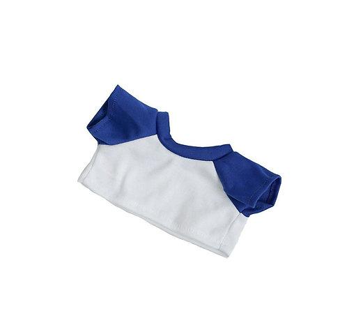 T-shirt blanc et bleu - vêtements pour peluche de 20 cm