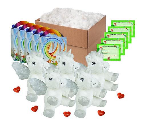 Pack anniversaire licornes blanches de 20 cm