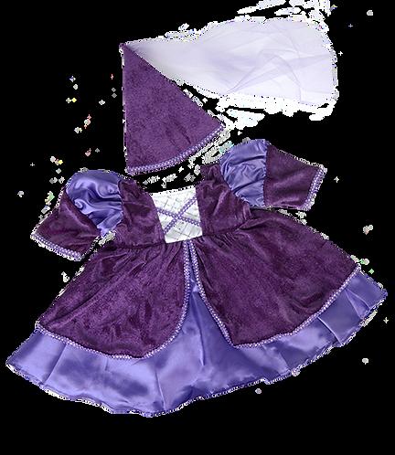 Costume de princesse médiévale - vêtement pour peluche de 40 cm