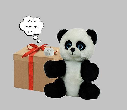 Peluche avec son enregistrable - Panda de 20 cm