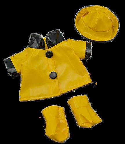 Ciré jaune avec chapeau et bottes - vêtement pour peluche de 20 cm