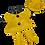 Thumbnail: Ciré jaune avec chapeau et bottes - vêtement pour peluche de 20 cm