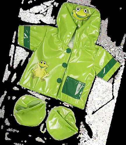 Ciré vert grenouille- vêtement pour peluche de 20 cm