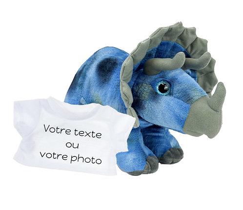 Peluche avec T-shirt personnalisé - Tricératops en peluche de 40 cm