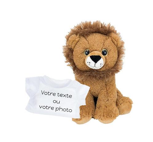 Peluche avec T-shirt personnalisé - Lion en peluche de 20 cm