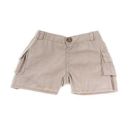 Short beige avec poches - vêtements pour peluche de 40 cm