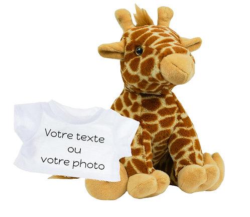 Peluche avec T-shirt personnalisé - Girafe en peluche de 40 cm
