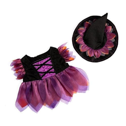 Costume de sorcière d'Halloween - vêtement pour peluche de 40 cm