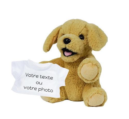 Peluche avec T-shirt personnalisé - Labrador en peluche de 20 cm
