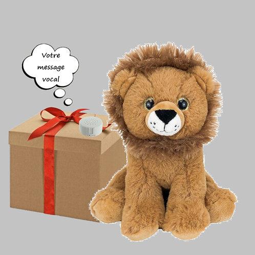 Peluche avec son enregistrable - Lion en peluche de 20 cm