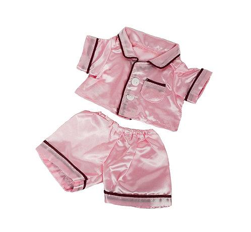 Pyjama rose - vêtement pour peluche de 20 cm