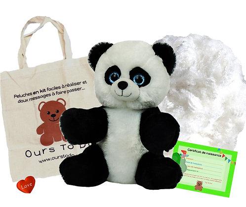 Panda - peluche à créer de 20 cm