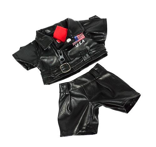 Tenue de motard Easy Rider - vêtements pour peluche de 20 cm