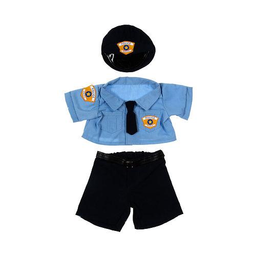 Uniforme de policier - vêtement pour peluche de 40 cm